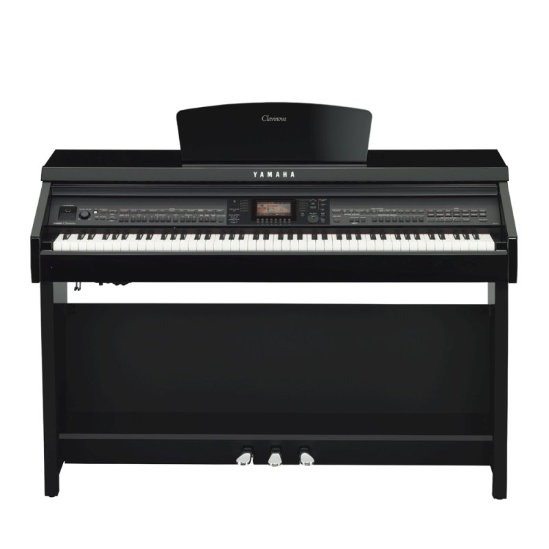 Piano Digital Yamaha CVP - 701B MIDI Preto 88 Teclas Sensitivas com 310 Ritmos Display LCD e 770 Sons